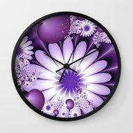 Fall In Love Fractal Art Wall Clock