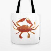 Clementine Crab Tote Bag