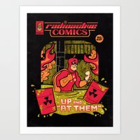 Radioactive Comics Art Print