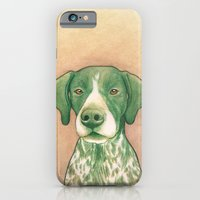iPhone & iPod Case featuring Pointer dog - Jola 02 by PaperTigress