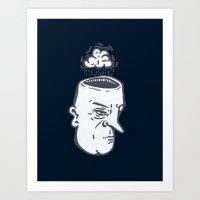Rain Brain Art Print