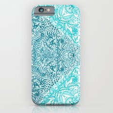 Teal Tangle Square iPhone 6 Slim Case