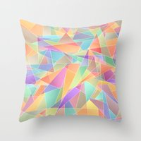 The Geometric Glass Shat… Throw Pillow