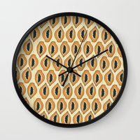 Papayas Wall Clock