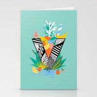 Vegan Fruit Bowl  Stationery Cards