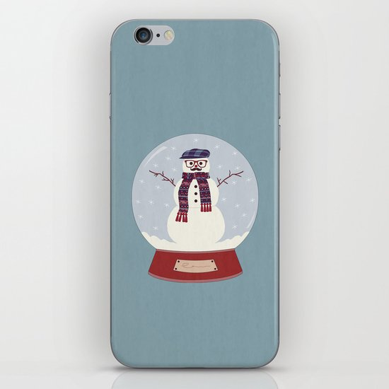 Let it snow, man! iPhone & iPod Skin