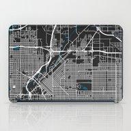 Denver City Map Black Co… iPad Case