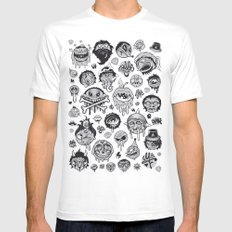 Characters SMALL White Mens Fitted Tee