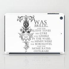 Alice In Wonderland Jabberwocky Poem iPad Case