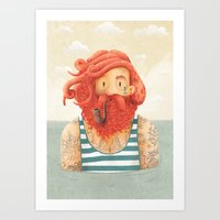 sea Art Prints featuring Octopus by Seaside Spirit