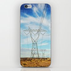 Power Lines in the Desert iPhone & iPod Skin