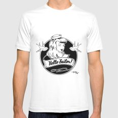 Hello Sailor Mens Fitted Tee SMALL White