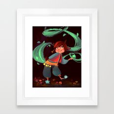 Little magic in the woods Framed Art Print