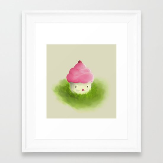 Go play with your cupcake Framed Art Print