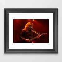 Megadeth Live at the State  Framed Art Print