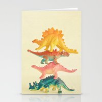 Dinosaur Antics Stationery Cards