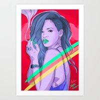 We Found Love Remix Art Print