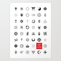 Symbols of mass destruction Art Print