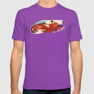Akira Mens Fitted Tee Ultraviolet SMALL