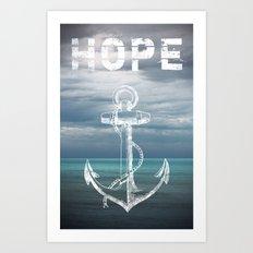 Hope Anchor Art Print