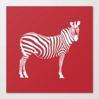 Big Red Zebra Canvas Print