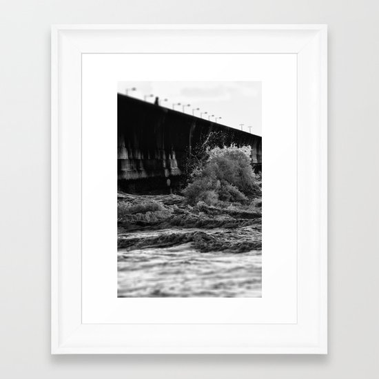 Staring at the sea Framed Art Print
