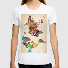 A Painted World Womens Fitted Tee Ash Grey SMALL