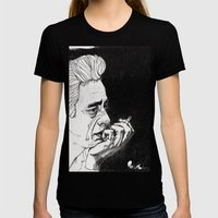 Man in Black Womens Fitted Tee Black SMALL