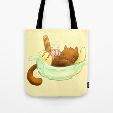 Banana split Cat Tote Bag