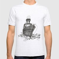 Knitted Ship Mens Fitted Tee Ash Grey SMALL