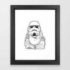 Buddah Trooper Framed Art Print