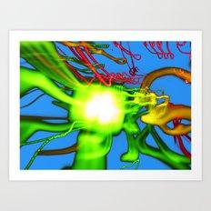 Blue N Green Art Print