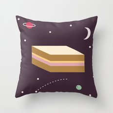 Ham & Cheese in Space Throw Pillow
