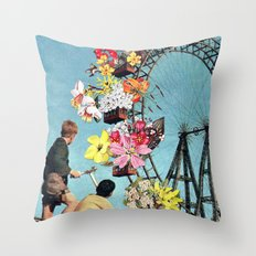 Bloomed Joyride Throw Pillow