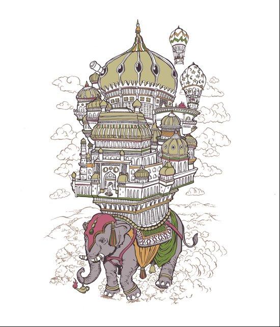 the walking palace Art Print