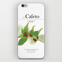 el Cafeto (coffee plant) iPhone & iPod Skin
