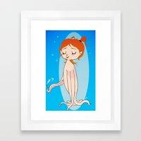 Octopus Girl Framed Art Print