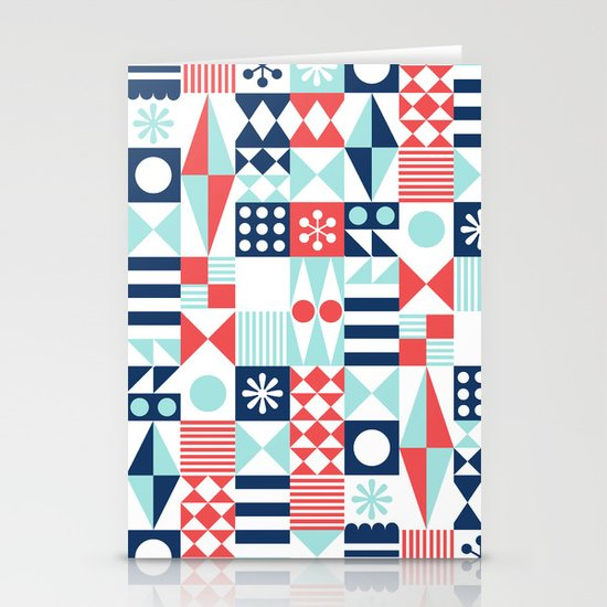 Tradewinds navy Stationery Card