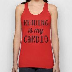 Reading is my Cardio Unisex Tank Top