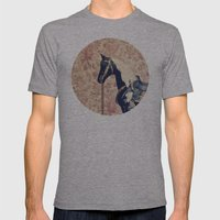 Vintage Horse  Mens Fitted Tee Athletic Grey SMALL
