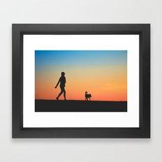A Walk With a Friend Framed Art Print