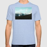 she will move mountains Mens Fitted Tee Tri-Blue SMALL