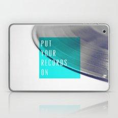 Records - Blue Laptop & iPad Skin