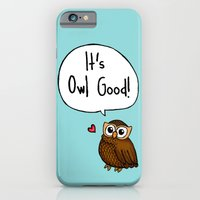 iPhone & iPod Case featuring It's Owl Good! by Bottle of Jo