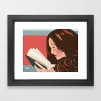 Favorite Book Framed Art Print