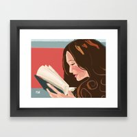 Favorite Book Framed Art Print