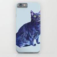 iPhone & iPod Case featuring Spot the Cat by KristinMillerArt