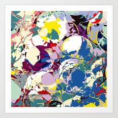 circle color fractures Art Print