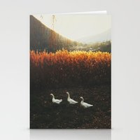 Walking Geese Stationery Cards