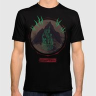 Mountain Of Madness Mens Fitted Tee Black SMALL